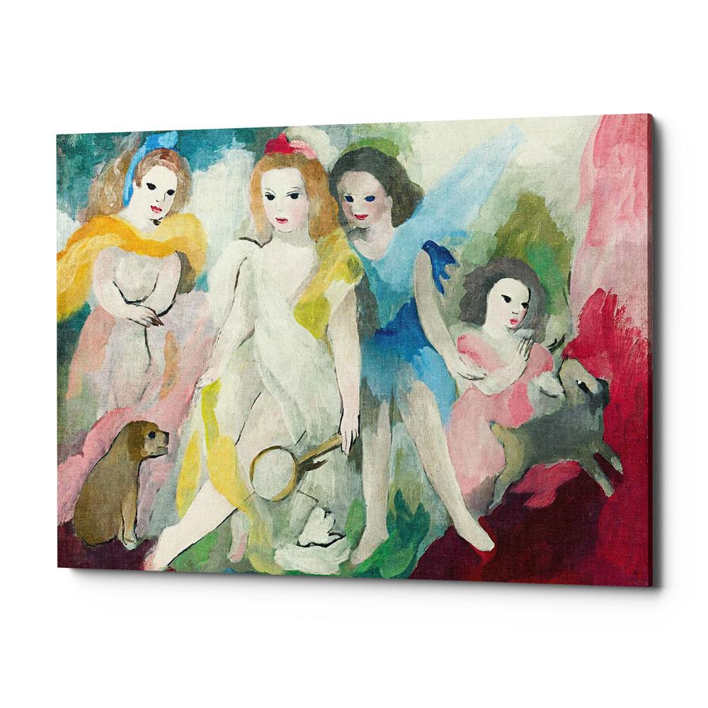Четыре девушки арт